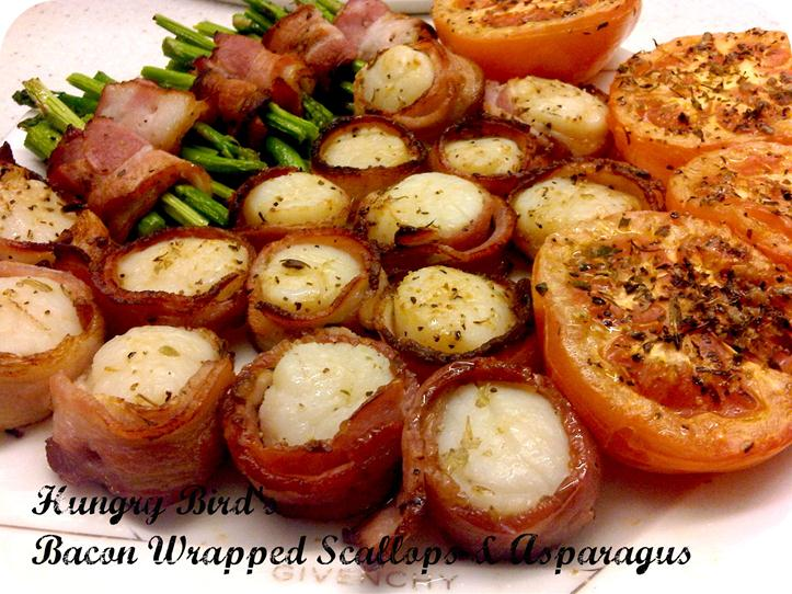Bacon Wrapped Scallops and Asparagus – Cooking | Hungry Bird