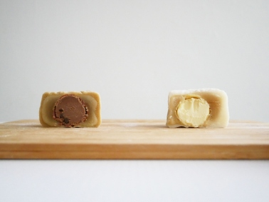 L: Earl Grey Truffle R: Champagne Truffle