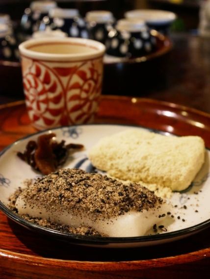 Amazake and warm mochi