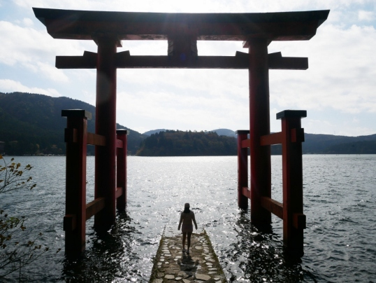 Torii Gate of Hakone Shrine