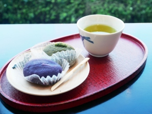 Murasaki imo and local tea flavoured paste