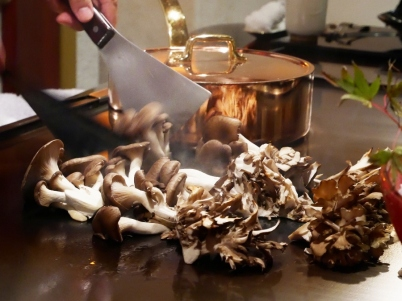 Seasonal mushrooms - maitake and matsutake