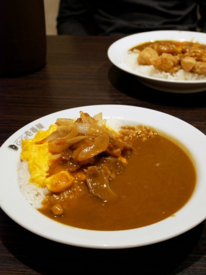 Curry rice with scrambled egg!