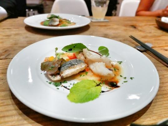 3 types of fish from Seto Inland Sea, accompanied with Kagawa peach