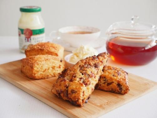 Cranberry Chocolate & Cheese Scones