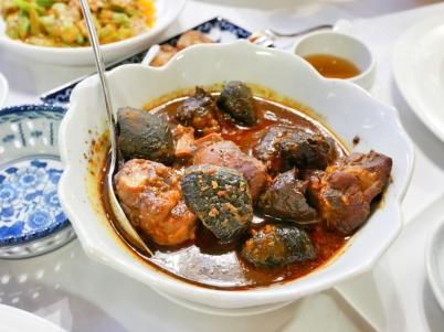 Ayam Buah Keluak (Chicken stewed with black nuts) - $26++