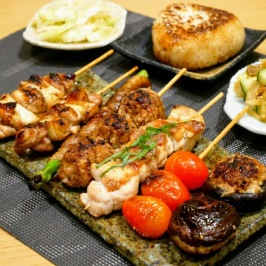 Yakitori and Grilled Onigiri