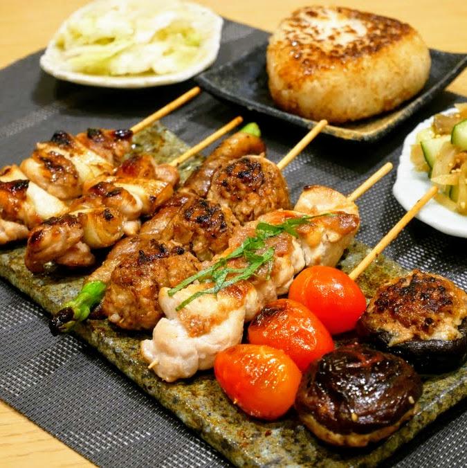 Yakitori and Grilled Onigiri