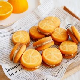 Orange Butter Cookie Sandwich