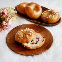 Bagels ~ Plain & Cranberry Cheese~